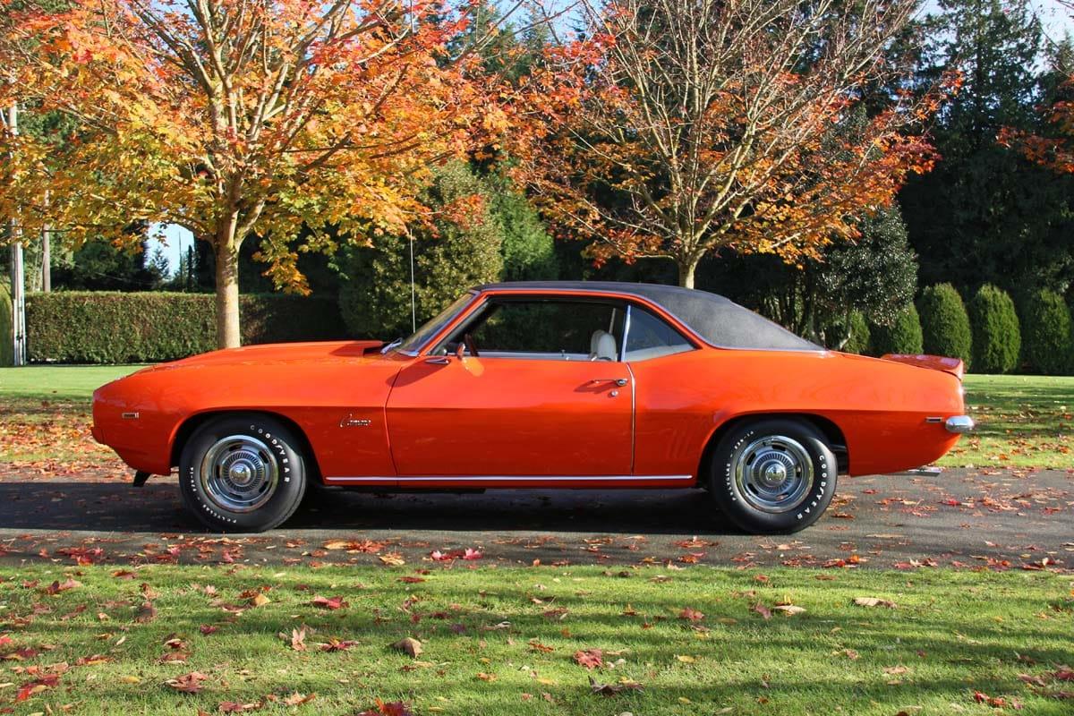 restored 1969 chevy camaro