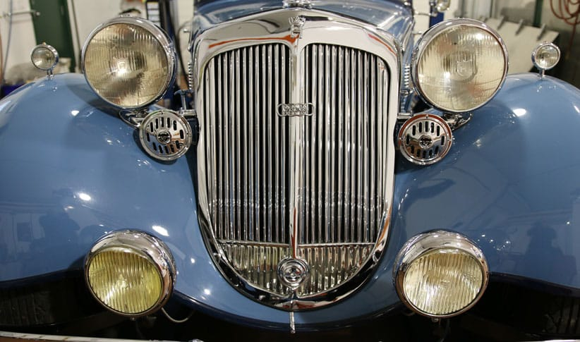 front end of a classic car