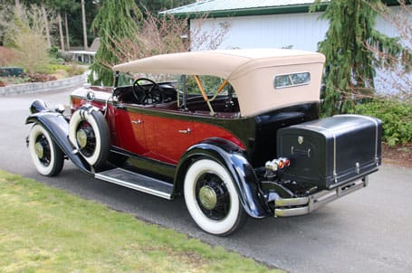 1931 Pierce Arrow Back View - Vintage Rod Shop