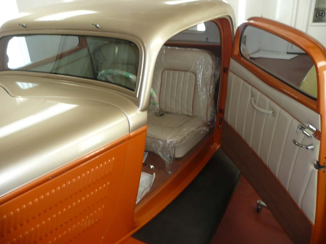 1934 ford 3 window coupe interior - Vintage Rod Shop