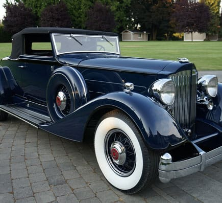 1934 packard Front View- Vintage Rod Shop