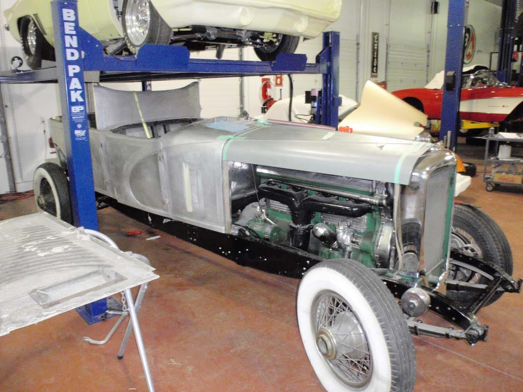 classic car being restored