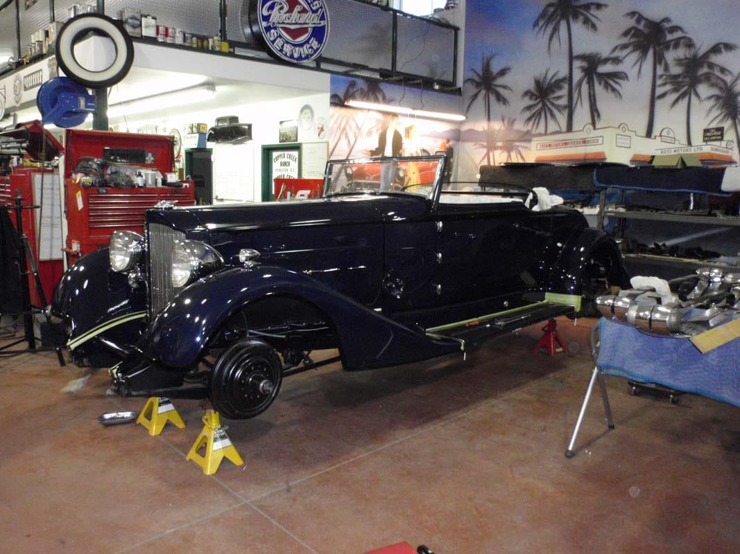 classic car repair shop