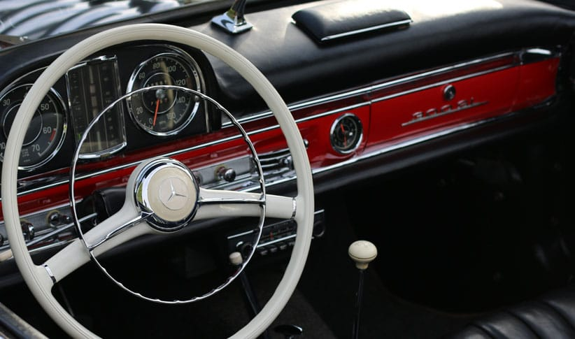 vintage car restoration interior