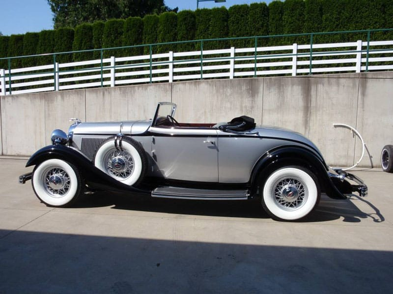 Side Image of 1933 Lincoln KA Coupe Convertible - Vintage Rod Shop