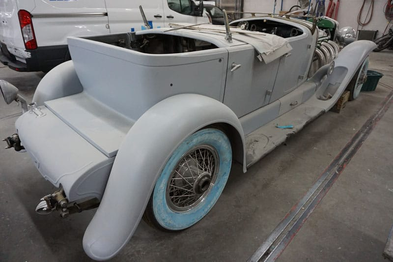 Vintage car paint restoration