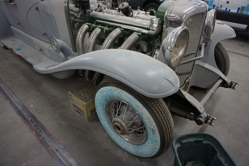 Vintage hot rod restoration project