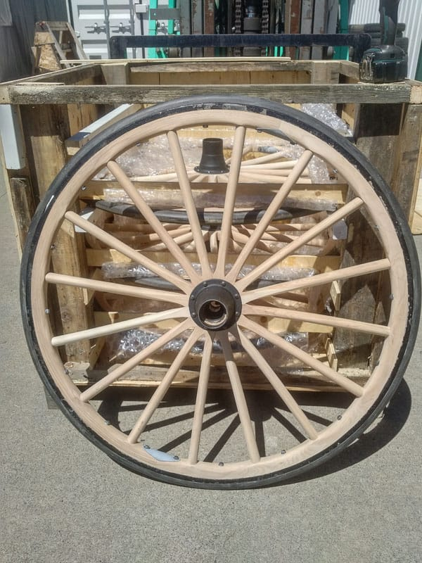 Vintage buggy wheel