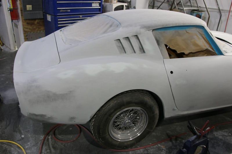 Sandblasted vintage car