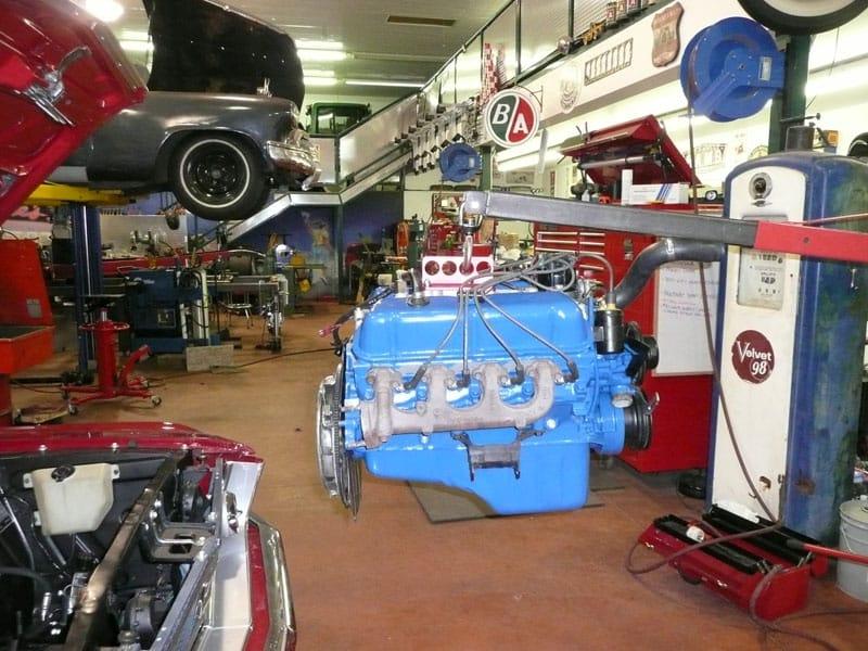 classic car restoration shop