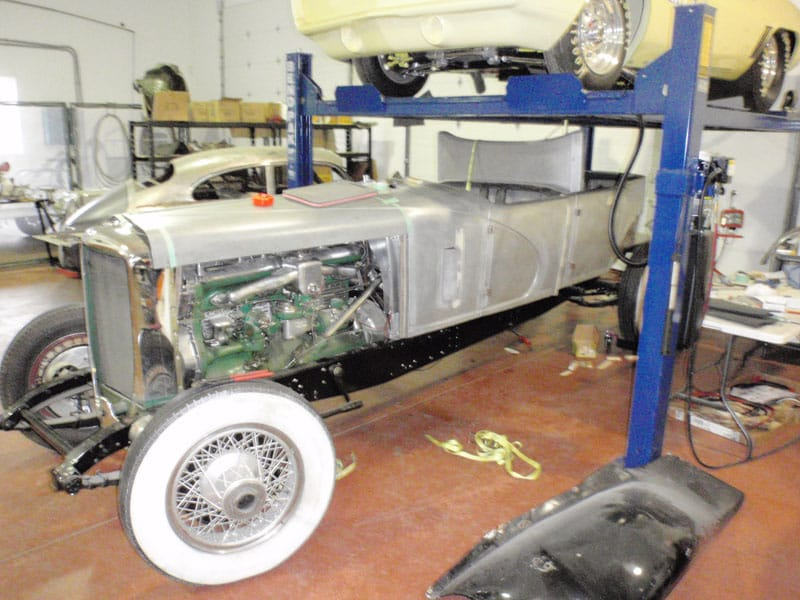 Classic car restoration project
